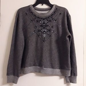 NWOT Cropped Abercrombie Bling Sweater L